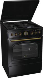 Комбинирана печка Gorenje K62CLB, Клас А, Обем на фурната 65 л